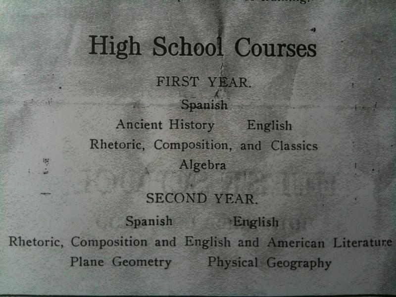 Courses at the Hurst School