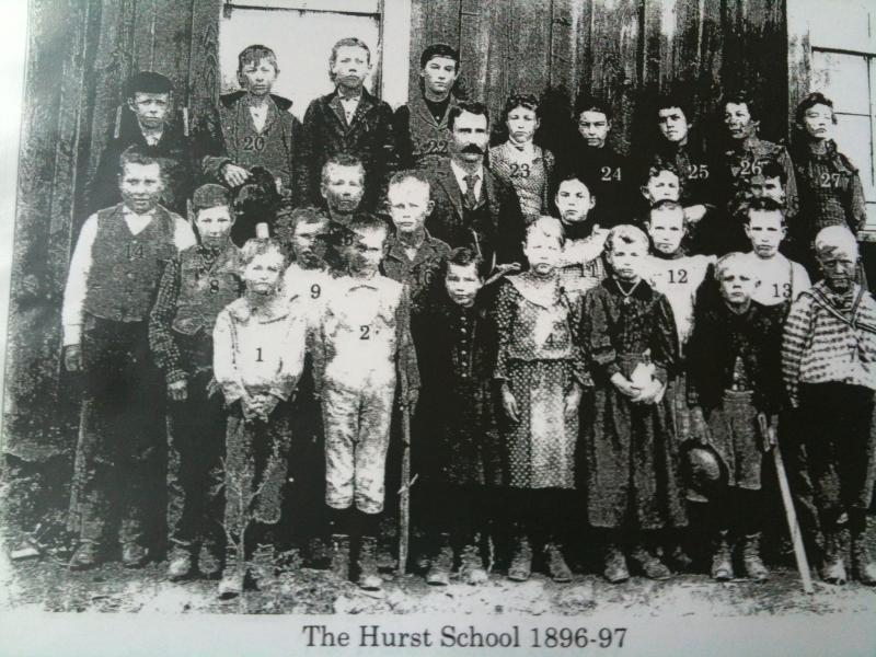 1896-97 Hurst students at the Hurst School