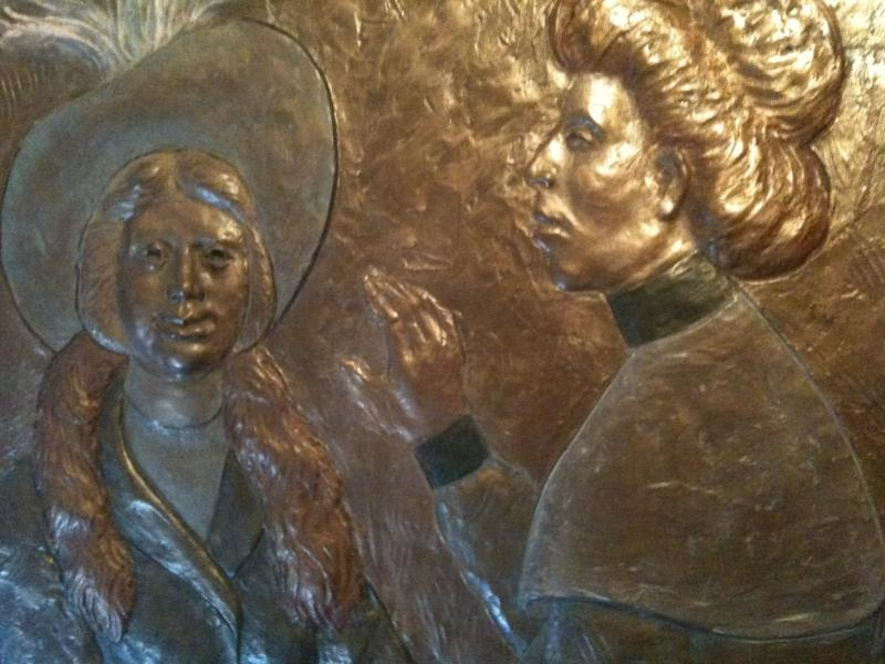 Another detail from the bronze panels