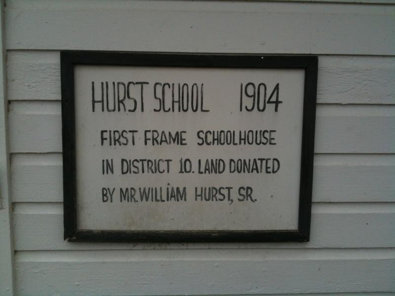 On the outside of the Community House, this sign commemorates the school