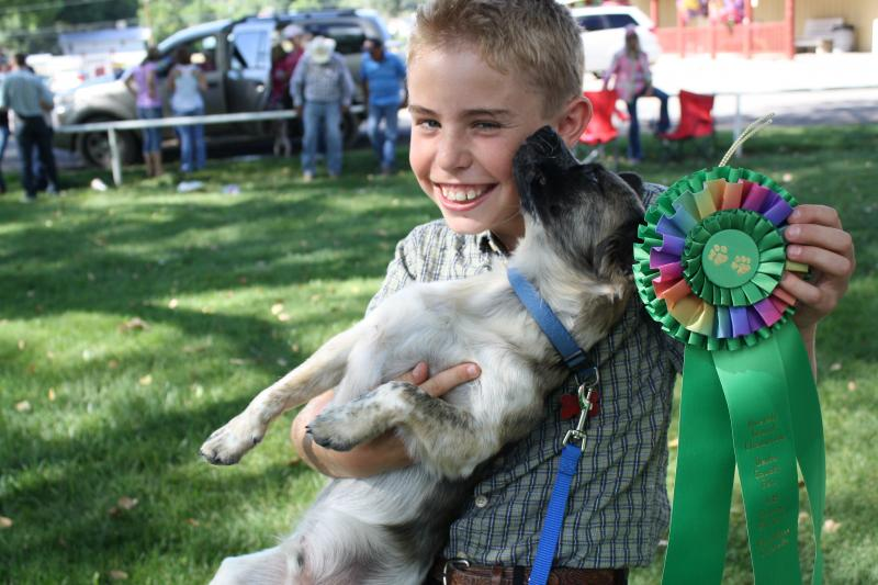 Trevor Pike, 11, and his mutt Echo were the overall grand champions of the show.