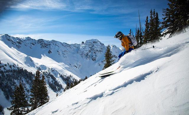 ski, skiing, Colorado, snow