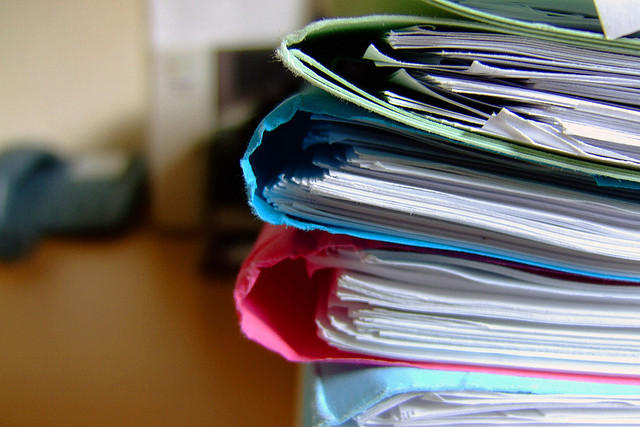 folders, records