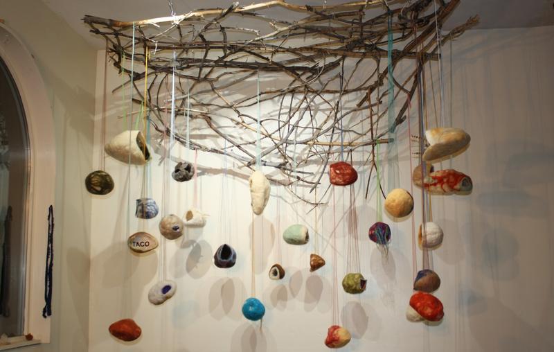 paonia cocoon, art, elsewhere studios, fiber art