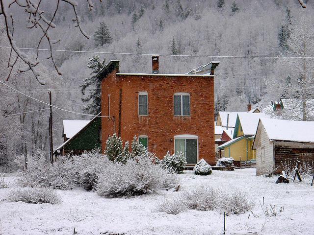 rico, snow, houses