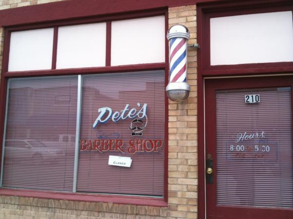 Peter's Barbershop on Grand Avenue in Paonia