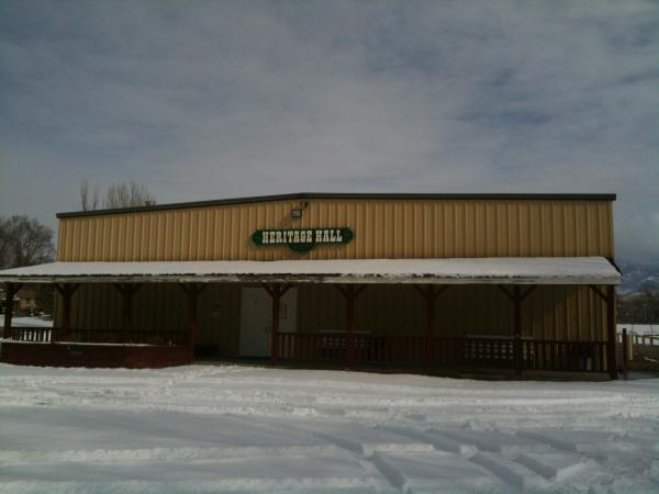 Heritage Hall at the Delta County Fairgrounds. Delta County spent $10,000 of its lottery funds on maintenance of the building, as well as fertilizing the fairgrounds.