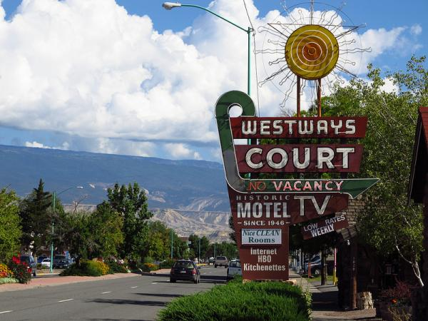 A motel in Delta advertises Internet in its rooms. Cities on the Western Slope generally have much faster Internet than rural areas.