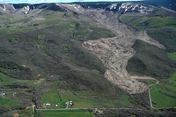massive landslide near Collbran