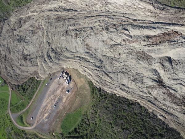 Collbran, Landslide