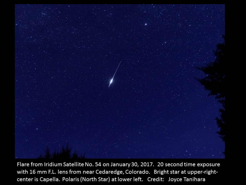 Western Slope Skies Spotting Earth Satellites KVNF Public Radio - Satellite from earth