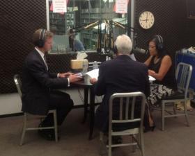 HUD Secretary Shaun Donovan, Congressman Jim Costa and KVPR host Juanita Stevenson talk on FM89's Valley Edition, Tuesday morning.