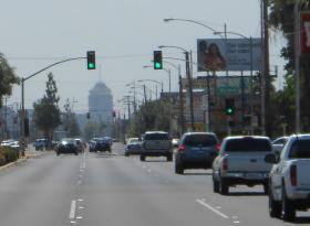Traffic on Fresno's Blackstone Avenue (file photo)