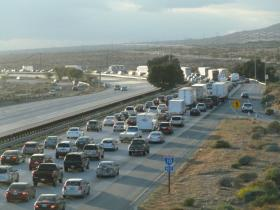 Freeway traffic on Interstate 10 in Southern California (file photo)