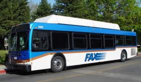 A Fresno Area Express bus at Roeding Park (file photo)