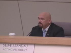 New Fresno City Council member Steve Brandau was sworn in today at City Hall
