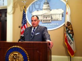 Former California Assembly Speaker John Perez calls off vote recount in state controller's race.