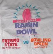 The final California Raisin Bowl was held in 1991.