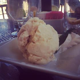 Guanabana ice cream from Limón Peruvian Cuisine.