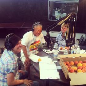 Nikiko, Mas and Marcy Masumoto in-studio at Valley Public Radio