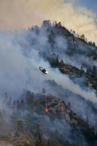 The Aspen Fire, near Huntington Lake , has burned more than 10,000 acres of forest in the Sierra Nevada.