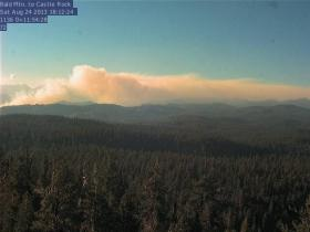 A view of the Fish Fire from Bald Mountain, Saturday August 24th