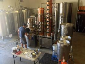 The distilling process is long and tedious, but Souza says it's worth the wait.