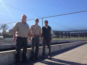 Greg Paape, Greg Kolleborn and Dean Marston all with the CDFW.