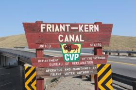The Friant-Kern Canal transports water to cities like Orange Cove and Lindsay.