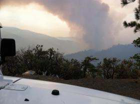 The French Fire as seen on Monday July 28, 2014.