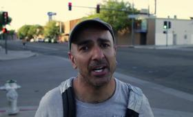 Neel Kashkari posed as a homeless person in Fresno looking for work as part of a new campaign video released this week.