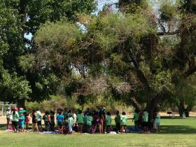 Over 200 kids gathered on the San Joaquin River daily in July for River Camp.