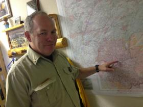 Chris Schrow was the head fire chief for the Rim Fire.