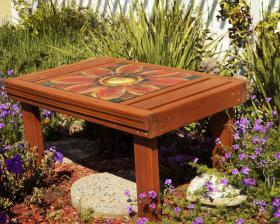 This bench is one of the items available at the silent auction