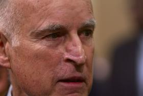 California Governor Jerry Brown (file photo)