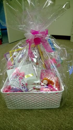 Find unique gift baskets at the silent auction tent