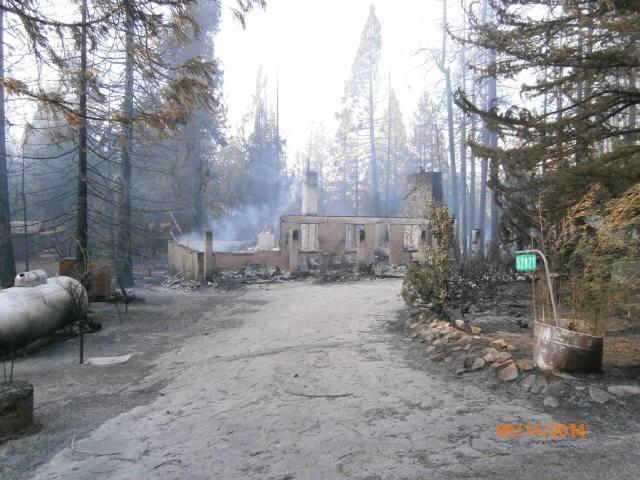 The remains of a structure destroyed by the Courtney Fire on Sunday September 14th.