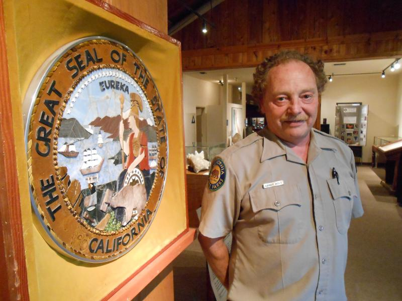 Randy Bolt is one of three remaining employees at the California State Mining and Mineral Museum in Mariposa. The museum may close later this year.