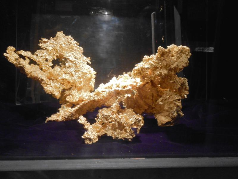 The world famous Fricot Nugget sits in a secure vault at the museum.