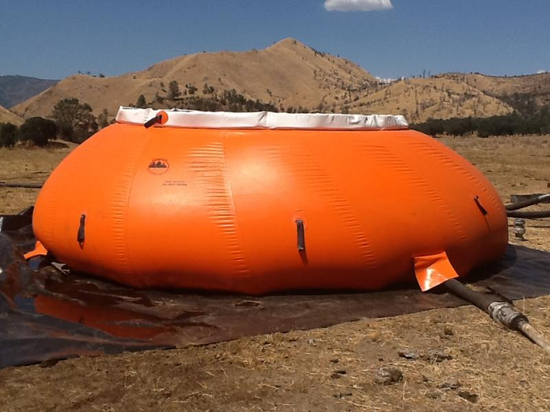 A portable mixing plant for fire retardant helped firefighters battle the Piute Complex fire.