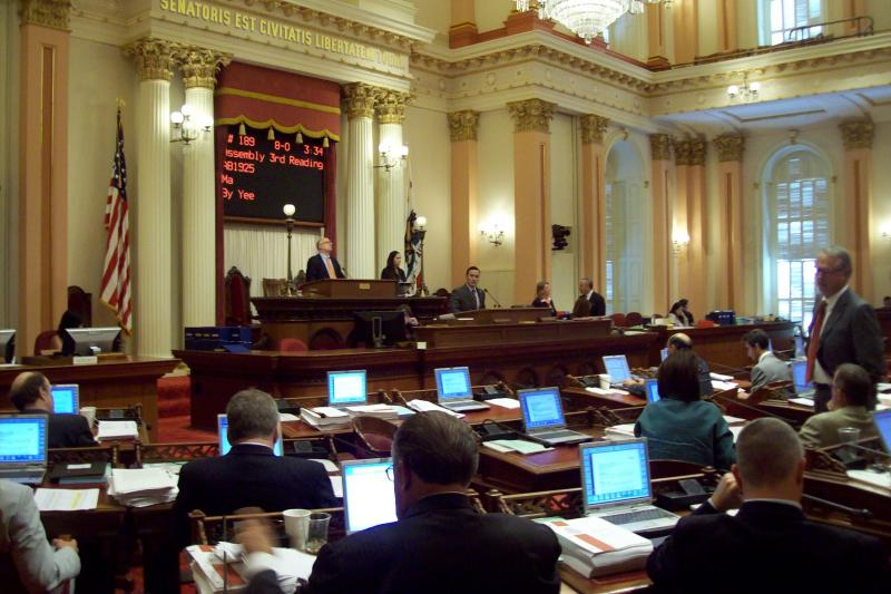 The California Senate debates the cell phone bill on Monday.