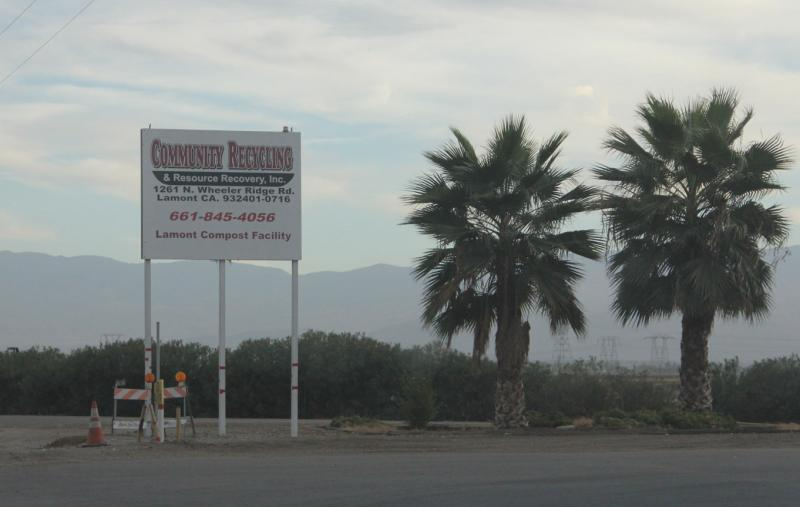 Hazy conditions are a trademark of the air around the Community Recycling facility just west of Arvin.