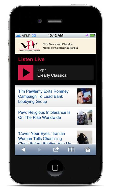 The new mobile version of KVPR.org