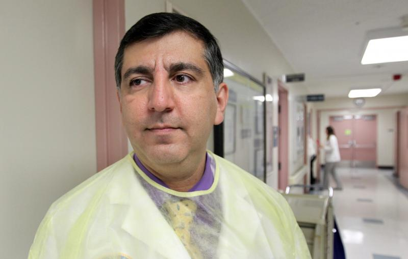 Dr. Arash Heidari treats valley fever patients at Kern Medical Center.