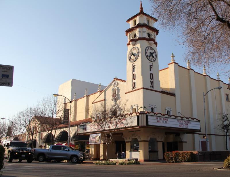 The historic Fox Theater anchors a thriving downtown district on Main Street in Visalia