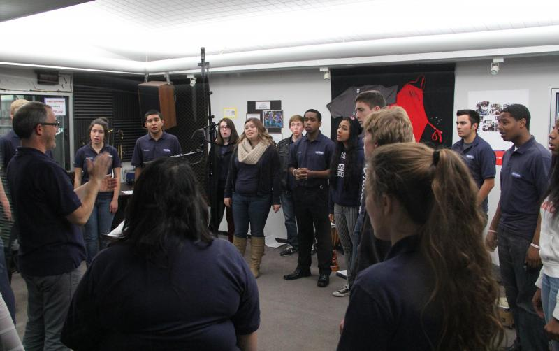 Bakersfield High School Chamber Singers perform at Valley Public Radio