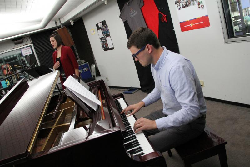 Vocalist Joslyn Sarshad and pianist and composer Joseph Joseph del Giorgio perform on FM89's Young Artists Spotlight