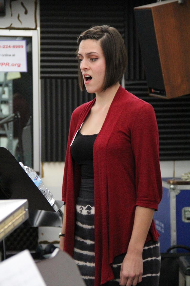 Vocalist Joslyn Sarshad performs a piece by Joseph del Giorgio on FM89's Young Artists Spotlight
