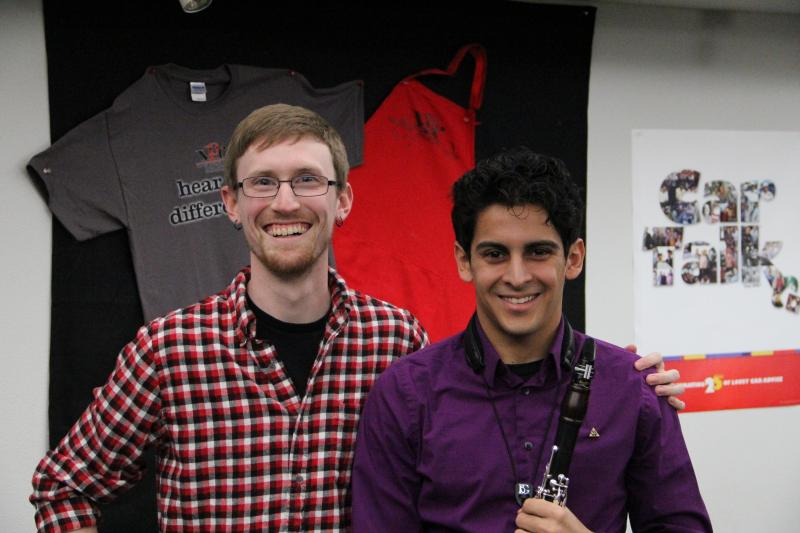 Composer Luffy Bailey and clarinetist Michael Zuniga