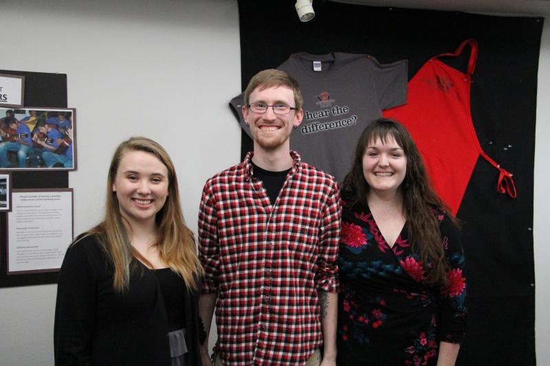 Left to right: vocalist Amber Lewis, composer Luffy Bailey and pianist Rebecca Messer